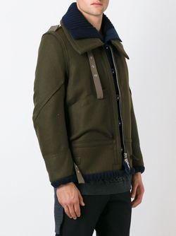 Многослойная Куртка Sacai                                                                                                              зелёный цвет