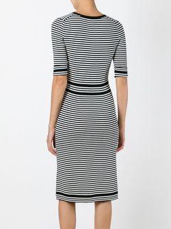 Полосатое Платье Плотной Вязки Marc Jacobs                                                                                                              черный цвет