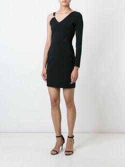 Короткое Платье С Одним Рукавом Versus                                                                                                              чёрный цвет