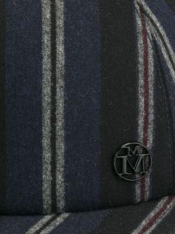 Полосатая Кепка Maison Michel                                                                                                              синий цвет