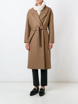 Пальто С Поясом Erika Cavallini                                                                                                              коричневый цвет