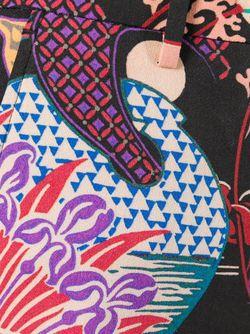 Расклешенные Брюки С Цветочным Принтом Etro                                                                                                              чёрный цвет