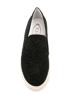 Кеды-Слипон Tod'S                                                                                                              черный цвет