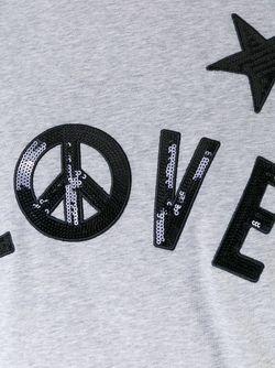 Декорированная Футболка Love Moschino                                                                                                              серый цвет
