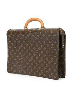 Портфель С Принтом-Логотипом LOUIS VUITTON VINTAGE                                                                                                              коричневый цвет
