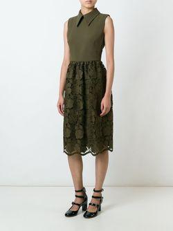 Платье С Кружевной Юбкой No21                                                                                                              зелёный цвет