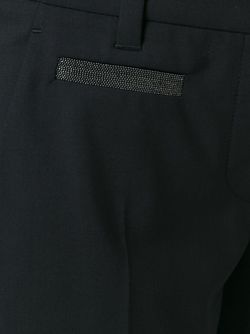Укороченные Брюки Со Стрелками Brunello Cucinelli                                                                                                              чёрный цвет