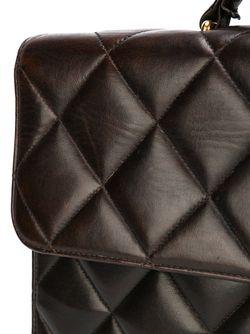 Стеганый Портфель Chanel Vintage                                                                                                              коричневый цвет