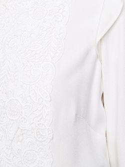 Блузка С Вышитым Нагрудником Monique Lhuillier                                                                                                              белый цвет