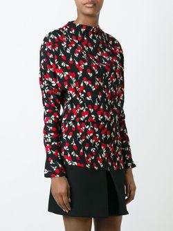 Блузка С Цветочным Принтом Marni                                                                                                              чёрный цвет
