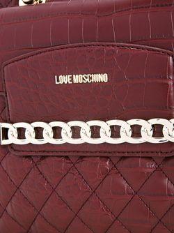 Сумка-Тоут С Цепочной Отделкой Love Moschino                                                                                                              красный цвет