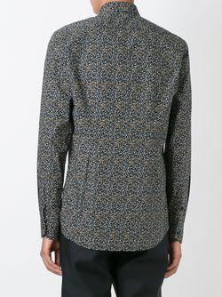 Рубашка С Узором Fendi                                                                                                              черный цвет