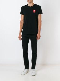 Футболка С Вышивкой Музыкальной Ноты Saint Laurent                                                                                                              чёрный цвет