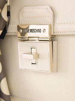 Сумка Через Плечо На Цепочной Лямке Love Moschino                                                                                                              белый цвет