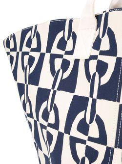 Chain Print Shopper Tote Hermès Vintage                                                                                                              белый цвет
