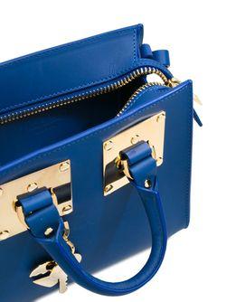 Маленькая Квадратная Сумка Через Плечо Albion Sophie Hulme                                                                                                              синий цвет