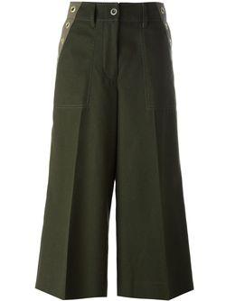 Широкие Кюлоты Sacai                                                                                                              зелёный цвет