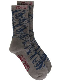 Носки До Середины Голени Yohji Yamamoto                                                                                                              серый цвет