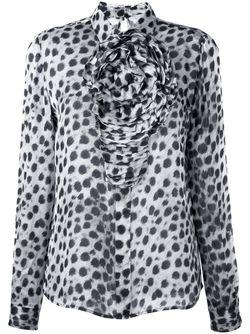 Рубашка С Леопардовым Принтом Blumarine                                                                                                              серый цвет