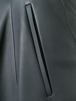 Кожаная Юбка Jil Sander                                                                                                              серый цвет
