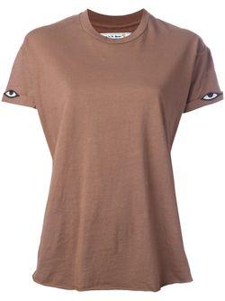 Футболка С Вышивкой В Виде Глаз Sandrine Rose                                                                                                              коричневый цвет