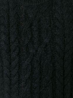 Джемпер Вязки Косичкой Balmain                                                                                                              чёрный цвет