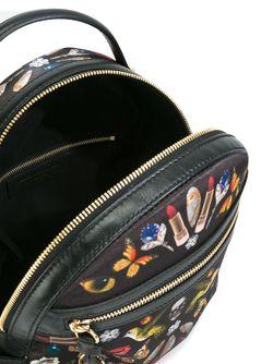 Рюкзак С Принтом Obsession Alexander McQueen                                                                                                              черный цвет