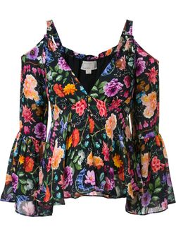 Блузка С Цветочным Принтом Nicole Miller                                                                                                              синий цвет