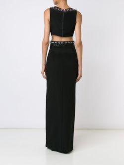 Платье Макси С Разрезом Nicole Miller                                                                                                              чёрный цвет