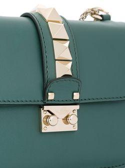 Сумка На Плечо Glam Lock Valentino                                                                                                              зелёный цвет