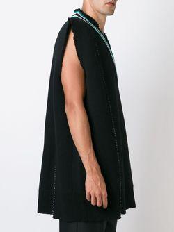 Вязаная Кофта C V-Образным Вырезом Raf Simons                                                                                                              черный цвет