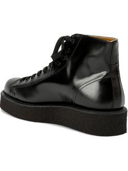 Ботинки На Шнуровке Yohji Yamamoto                                                                                                              чёрный цвет