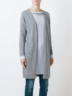 Многослойный Декорированный Кардиган Blugirl                                                                                                              серый цвет