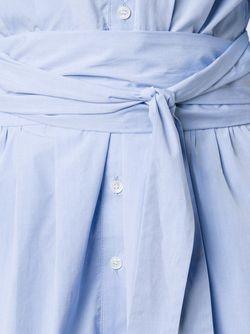 Платье-Рубагка С Поясом Sea                                                                                                              синий цвет