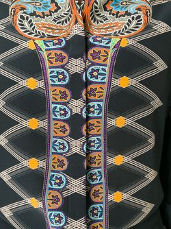 Рубашка С Абстрактным Принтом Etro                                                                                                              чёрный цвет