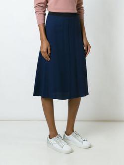 Юбка А-Образного Кроя MSGM                                                                                                              синий цвет