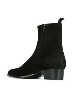 Ботинки По Щиколотку Wyatt Saint Laurent                                                                                                              черный цвет