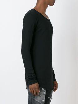 Свитер С Круглым Вырезом Balmain                                                                                                              черный цвет