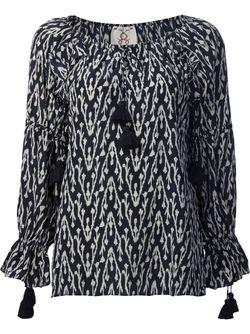 Блузка Clodie С Этническим Рисунком FIGUE                                                                                                              чёрный цвет