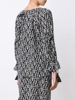 Блузка Clodie С Этническим Рисунком FIGUE                                                                                                              черный цвет