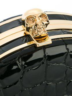 Круглый Клатч На Цепочке Alexander McQueen                                                                                                              чёрный цвет
