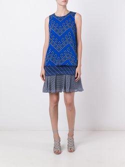 Платье Liza Diane Von Furstenberg                                                                                                              синий цвет