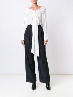 Блузка С Декоративным Узлом Magda Butrym                                                                                                              белый цвет