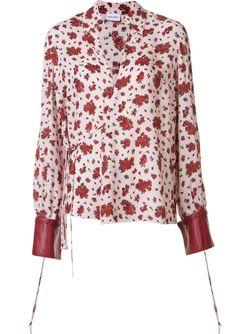 Рубашка С Контрастными Манжетами Magda Butrym                                                                                                              красный цвет