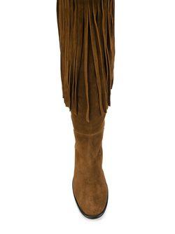 Сапоги С Бахромой Casadei                                                                                                              коричневый цвет