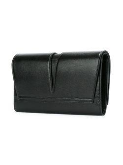 Клатч С Откидным Клапаном Jil Sander                                                                                                              черный цвет