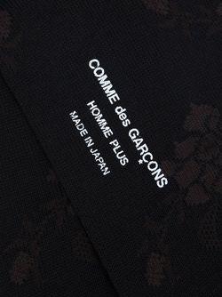 Носки С Цветочным Узором COMME DES GARCONS HOMME PLUS                                                                                                              черный цвет