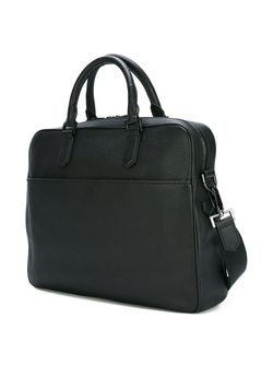 Grained Leather Briefcase Emporio Armani                                                                                                              черный цвет