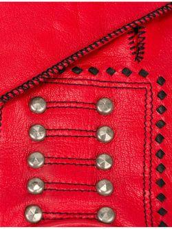Studded Gloves JEAN PAUL GAULTIER VINTAGE                                                                                                              красный цвет