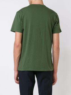 Футболка С Нашивкой В Виде Лисы Maison Kitsune                                                                                                              зелёный цвет